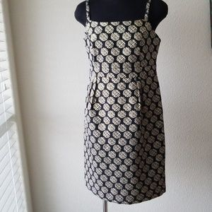 Party Dress in Black and Gold Design